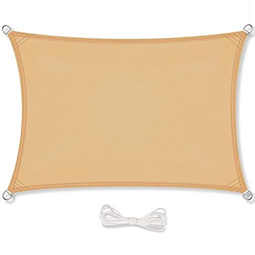 baratos y buenos GOUDU Toldo de vela rectangular Toldo IKEA Protección solar con protección UV … calidad