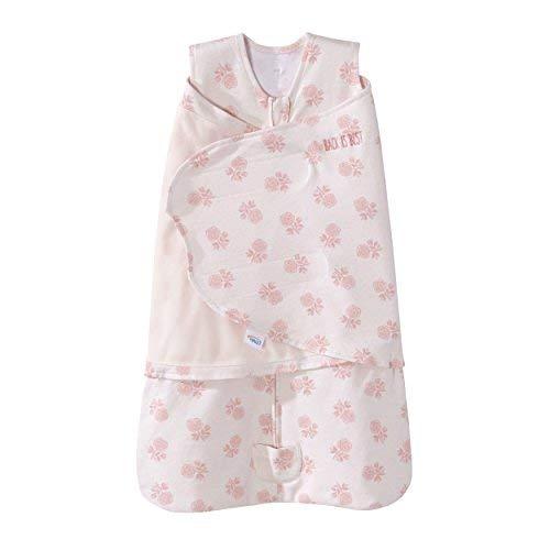 HALO Sleepsack Swaddle Cotton Watercolor Rose Toss Blush, Size SM