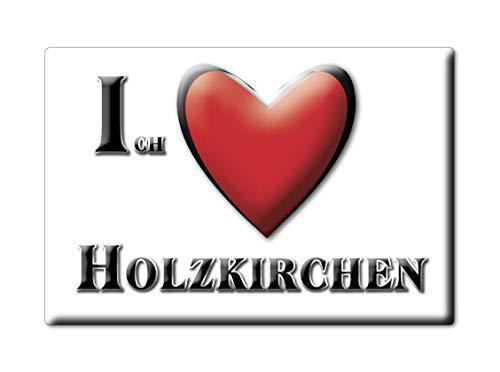 Enjoymagnets HOLZKIRCHEN (by) Souvenir Deutschland Bayern Fridge Magnet KÜHLSCHRANK Magnet ICH Liebe I Love