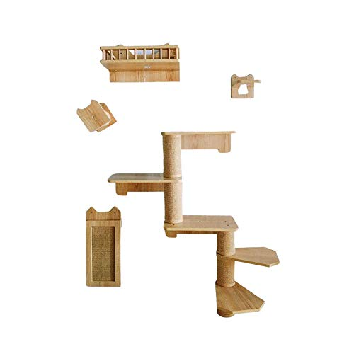 Wooden Cat Wall Climber - Space Saving Home Furniture With Cat Shelves