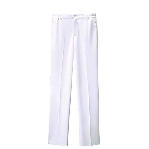 ナースリー アクティブストレッチ ベーシックストレートパンツ(メンズ) 透けにくい 医療 看護 白衣 歯科 5L ホワイト 9098701A