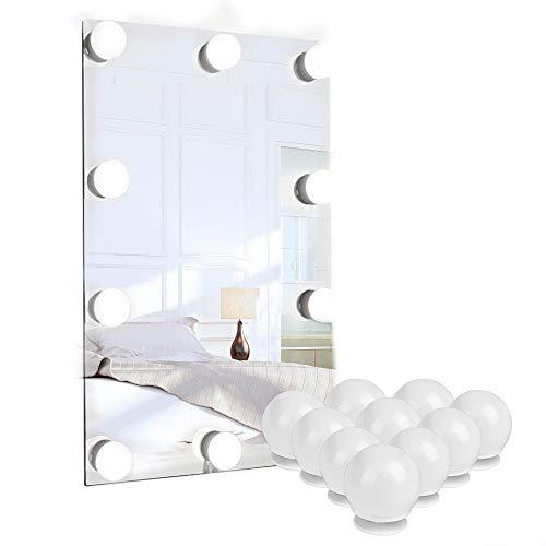 Luci Da Specchio Hollywood 10 Lampadine Dimmerabili Lampada da Specchio Cosmetico Lampada da Bagno LED Luce Dello Apparecchio di Illuminazione con Dimmer e Alimentatore USB luci specchio trucco