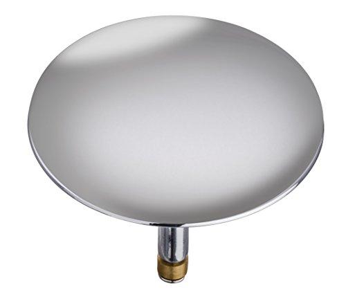 WENKO 21849100 Badewannenstöpsel Pluggy XXL Chrom, Abfluss-Stopfen, für alle handelsüblichen Abflüsse, Messing, 7.5 x 6 x 7.5 cm, Chrom
