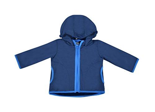 Be! Mama be! Baby/Kinder Softshell Jacke mit Leichter Fleece-Schicht innen, Wassersäule: 10.000 mm, Gr. 74/80, dunkelblau