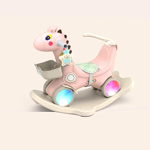 Best Prices! FJH Rocking Horses Baby Rocking Horse with Guardrail Cushion Dual-use Thick Plastic Sco...