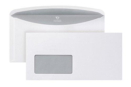 POSTHORN Briefumschlag C6/5 (114x229mm) nassklebend mit Fenster weiß 80g ASK Velox3000 1000 Stück