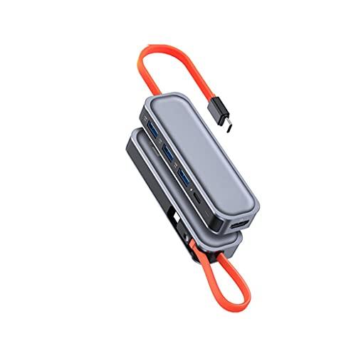 ZZNNN USB C HUB HDMI con Adaptador de Corriente PD para la estación de Acoplamiento de Tipo portátil Tipo portátil para telefono Divisor USB 100W con Salida 4K '