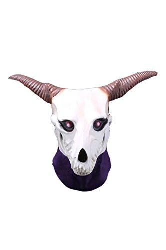 Newhui Magus Cosplay Mask Elias Skull Latex Head Mask Headgear