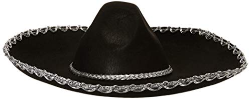 Forum Novelties Men's Adult Mexican Sombrero Costume Hat, Black, One Size