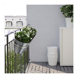 Ikea Socker macetero con soporte int/ext galvanizado 51x19 cm: Amazon.es: Jardín