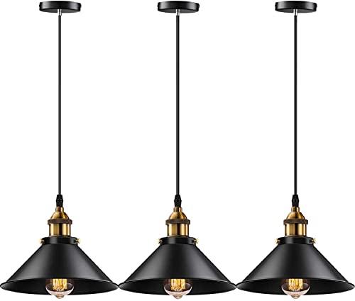 YNXing Lámpara colgante industrial E26 E27 base vintage colgante luces colgantes retro lámpara colgante hogar cocina...