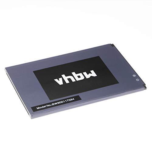 vhbw Li-Ion Akku 2500mAh (3.7V) für Handy Smartphone Telefon Cubot Note S