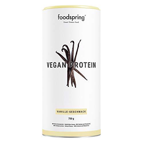 foodspring Proteína Vegana,Vainilla, 750g, Proteína de guisante, Garbanzo ✅