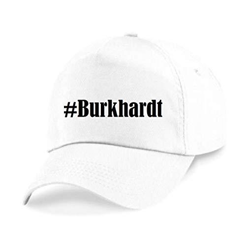Reifen-Markt Base Cap Hashtag #Burkhardt Größe Uni Farbe Weiss Druck Schwarz