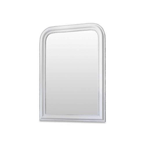 Loberon Spiegel Jalisa, Spiegelglas, H/B/T ca. 104/74 / 3 cm, weiß