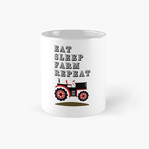Eat Sleep Farm Repeat T-shirtagriculture Trendy T-Shirt Classic Mug Funny Coffee 11 Oz