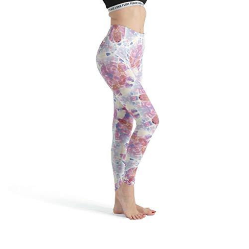 Toomjie Damen Yoga Slang Klassiekers Stretch Capri Ondoorzichtig Leichte Roze Skies Mandala Muster Sporthose Muay Thai