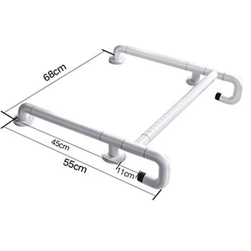 Handläufe Haltegriff Barrierefrei Waschbecken Toilette Ältere Behinderte Waschtisch Booster Badezimmer (Color : White)