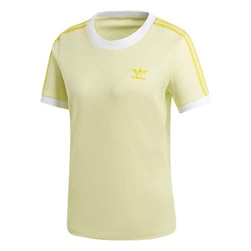 adidas Originals Damen 3-Stripes Tee T-Shirt, Ice Yellow, Klein