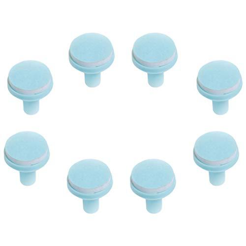 Healifty 8Pcs Almohadillas de Repuesto para Recortador de Uñas para Bebés Almohadillas de Repuesto para Lima de Uñas para Bebés Accesorios para Recortador de Uñas para Bebés con Base Azul