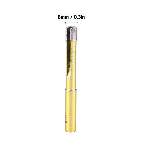 Broca de agujero de diamante conductivo, cristal de la porcelana de la teja de la porcelana Material de diamante de la calidad diamante de 8m m hecho para la perforación del mármol