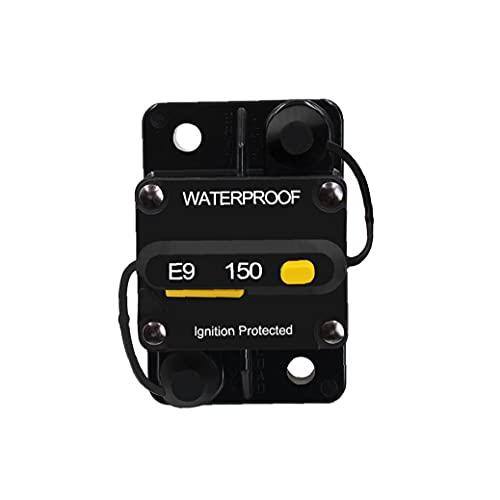RRunzfon Circuit Breaker Interruptor Impermeable 150 Amp Circuito de rearme Manual para el Sistema de protección de sobrecarga de Corriente CS-642A3
