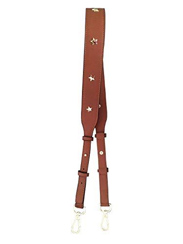 HinLot Star Applikation Lange PU Leder Handtaschen Riemen Crossbody Geldbörse Gürtel One Size braun
