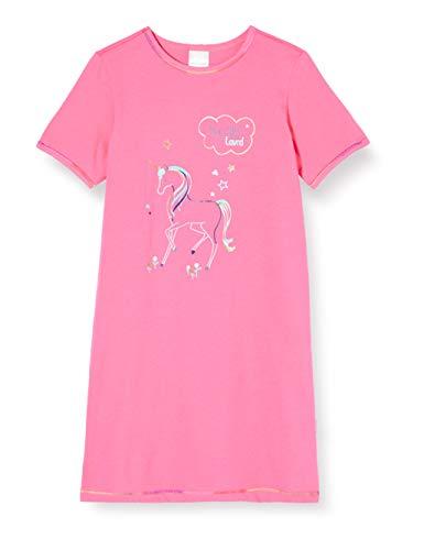 Schiesser Mädchen Girls World 1/2 Nachthemd, Rot (Pink 504), (Herstellergröße: 128)
