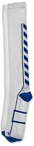 Hummel Tech Indoor Socks High, White/True Blue, 10