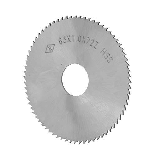 Acero De Alta Velocidad 72 Dientes De Hoja De Sierra Circular De Cuchilla De Corte De Accesorios De Disco, 63 X 1 X 16 Mm