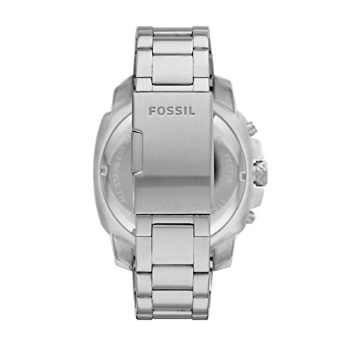 Fossil Reloj cronógrafo Machine de cuarzo de acero inoxidable para hombre
