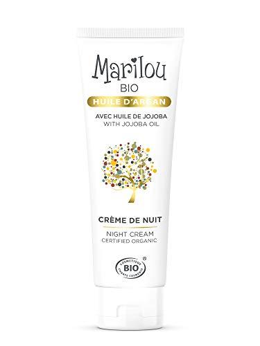 Marilou Bio - Gamme Argan - Crème de Nuit à l'Huile d'Argan - Tube de 50 ml - La Crème des Mille et une Nuits !