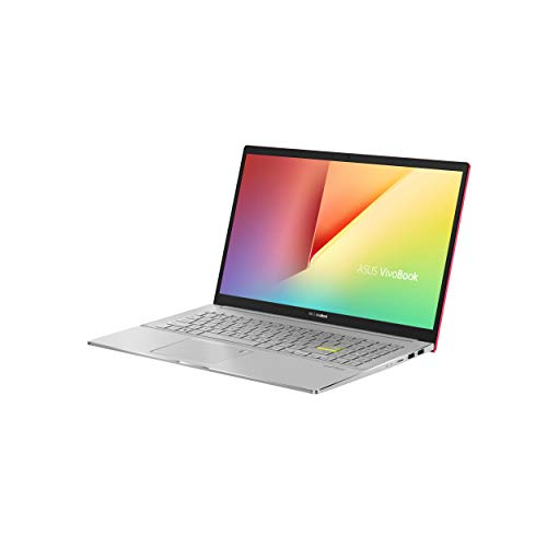ASUS VivoBook S15 S533FA (90NB0LE2-M00220) 39,6 cm (15,6 Zoll, Full HD, WV, matt) Notebook (Intel Core i5-10210U, Intel UHD-Grafik 620, 8GB RAM, 512GB SSD, Windows 10) resolute red