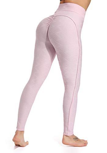 Bottino brasiliano Enhance-Sexy butt lift push up leggings a vita alta per donna, sollevamento pantaloni da yoga, leggings anticellulite, Activewear testurizzato; collant sagomati da palestra, pantaloni da allenamento, pantaloni skinny con gambali sc...