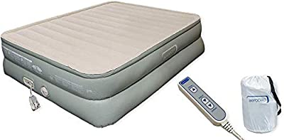 """Aerobed Premier Luxury 3-Layer 20"""" High Queen Air Mattress with Built-In Pump and Storage Bag ( Inflated Dimensions: 60x78x20""""H ) Standard Queen Sheets Fit"""