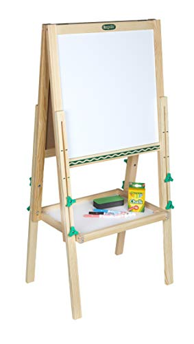 Crayola Kids Mini Wooden Art Easel & Supplies, Amazon Exclusive, Toddler Toys, Gift for Kids, Ages 3, 4, 5, 6