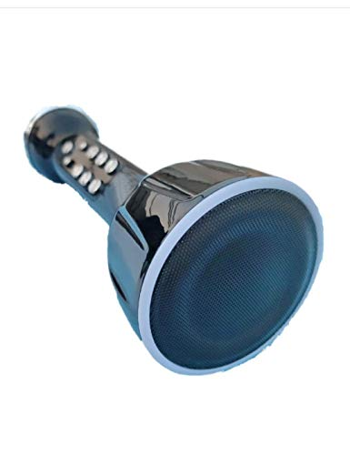 VRJTEC Type 2 Karaoke Mic Premium Quality Handheld Wireless Microphone Mic With Audio Recording Bluetooth Speaker & Karaoke Feature. (Black)