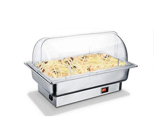 Hot Plate Alimenti Warmer buffet Server scaldavivande Portable Set di riscaldamento elettrico in acciaio inox Vassoio 3 Sezione con coperchi for la festa nuziale ( Color : B , Size : Single layer )