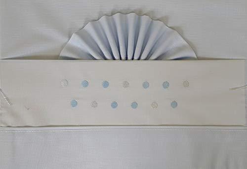 Duffi Baby 1372-12 - Sábana bordada 100% algodón, 3 piezas, minicuna