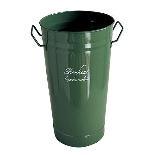 SPICE OF LIFE(スパイス) 花桶 ブリキフラワーポット ボヌール グリーン 2L 18.5×13×23cm ロング バケツ JMGF1020GR