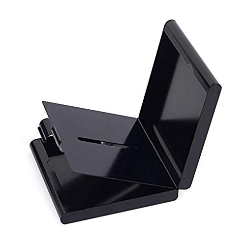 ToBeIT Etui Zigaretten Metall Zigarettenbox - Aluminium Zigarettenetui für 20 Zigaretten (schwarz)