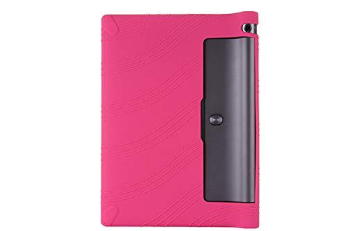 Oneyijun Rosado Suave Silicona Piel Bolsa Proteccion Caso Protector Cubrir Funda para Lenovo Yoga Tab 3 YT3-X50F/M/L 10.1 Pulgadas Tableta