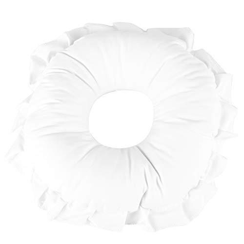 Almohada de relajación facial, alfombrilla para la siesta, de alta elasticidad ahuecada, ligera, transpirable para trabajadores de oficina, estudiantes(white)