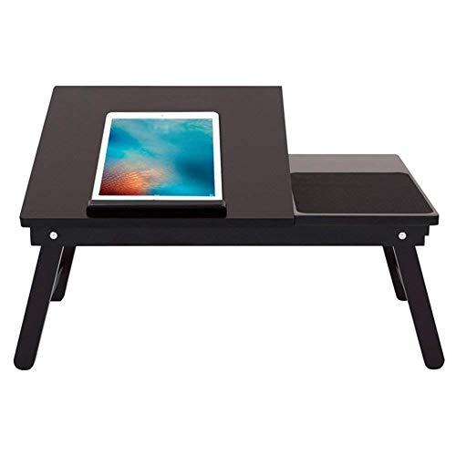 ZGQA-GQA El Ordenador portátil representa Escritorio portátil Sofá Cama Mesa Multifuncional de Escritorio Plegable se Puede inclinar Lectura de los Libros de bambú Negro, 542x351x230MM
