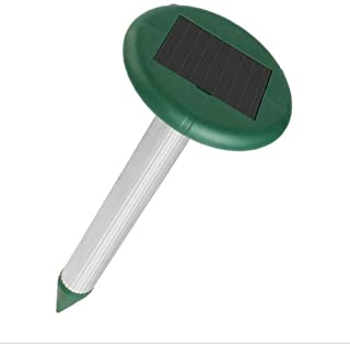 Repelente Ultrasonico Antiplagas de Contra insectos Ahuyentador para Animales Solar Mole Repeller...