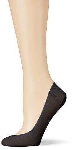 Camano Damen Women Fashion Footie Lacercut 2p Füßlinge & Sneakersocken, Schwarz (Black 05), (35/38) (2er Pack)