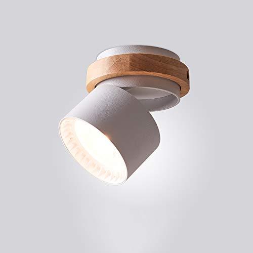 Ayyayy Downlights: Downdlights de Techo montados en Superficie de macarrones nórdicos, proyectores de Techo Redondos de 360 ° giratorios, Luces pequeñas de Corredor, focos de Madera de Goma.