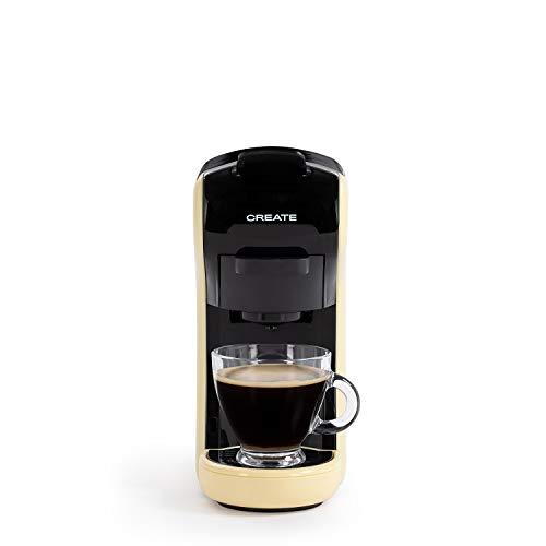 CREATE IKOHS Máquina de Café Espresso Italiano - Cafetera Multi Cápsulas Compatible Nespresso 3 en 1, 19 Bares con 2 Programas de Café, deposito extraíble, 0,6 L, 450 W (Amarillo)