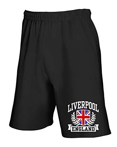 Jogginghose Shorts Schwarz TSTEM0183 Liverpool England Fitted DA