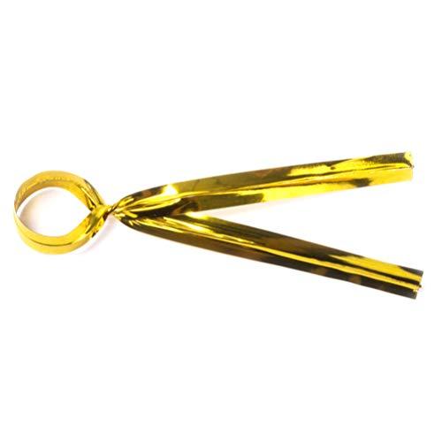 BESTONZON 100pcs métallique coloré Twist Ties Cravates De Bonbons Cravates Pain Durable Facile à Twist Wire Ties pour Cake Pops